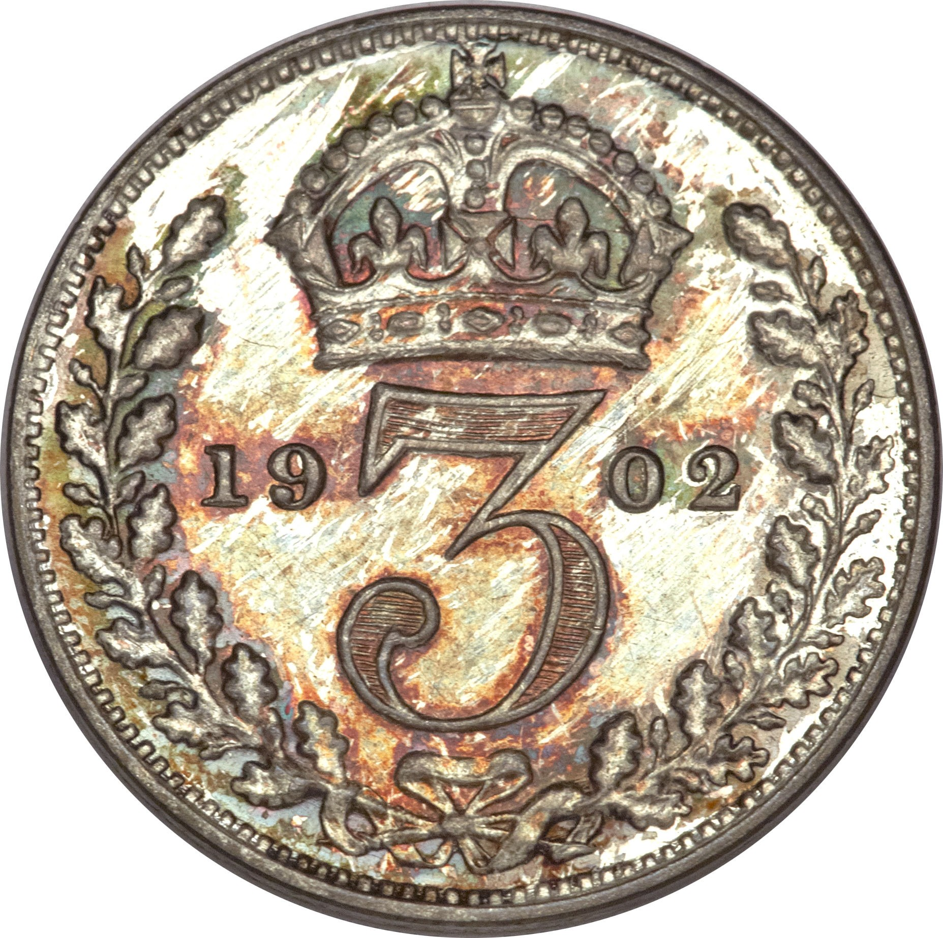 British 3 Pence (1902-1910 Edward VII)