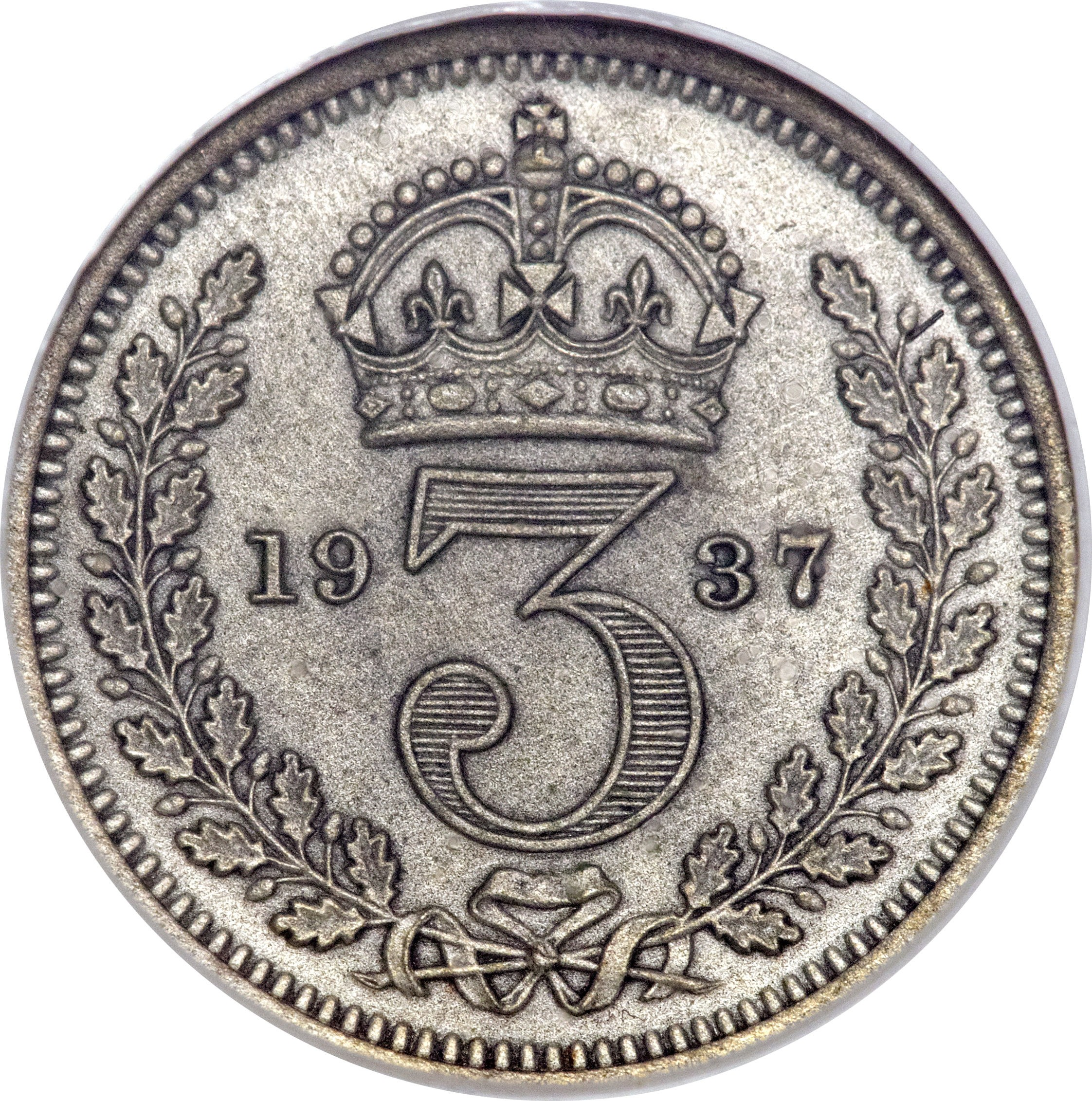 British 3 Pence (1937-1946 George VI)