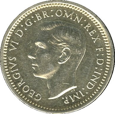 British 3 Pence (1947-1948 George VI)