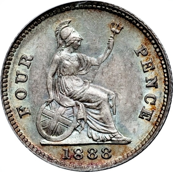 British 4 Pence (1838-1887 Victoria)