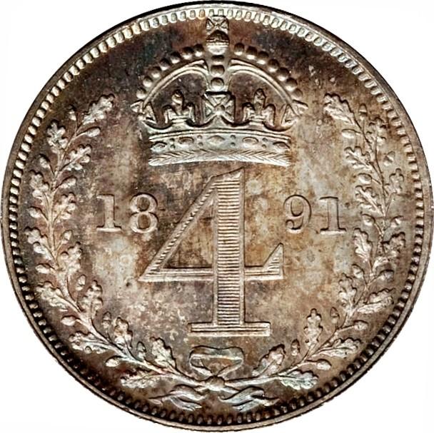 British 4 Pence (1888-1892 Victoria)