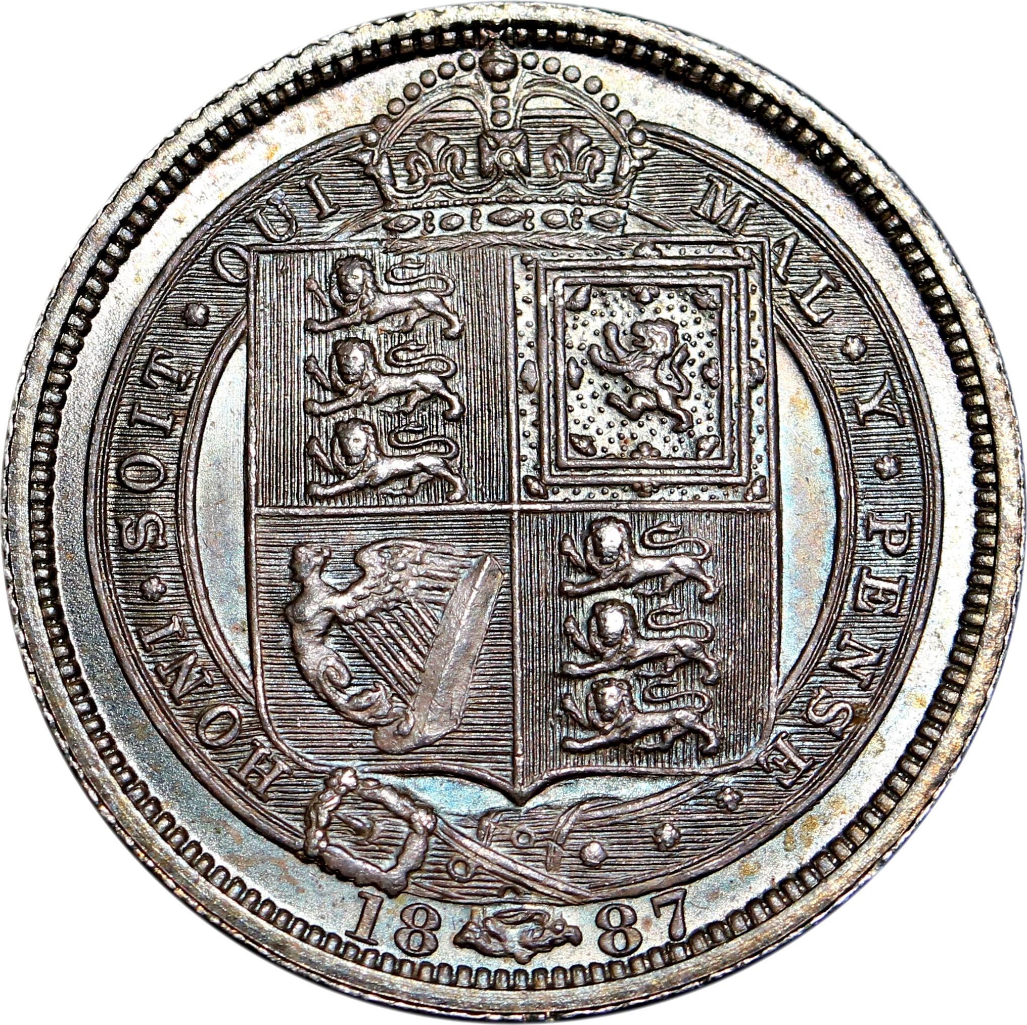 British 6 Pence (1887 Victoria)
