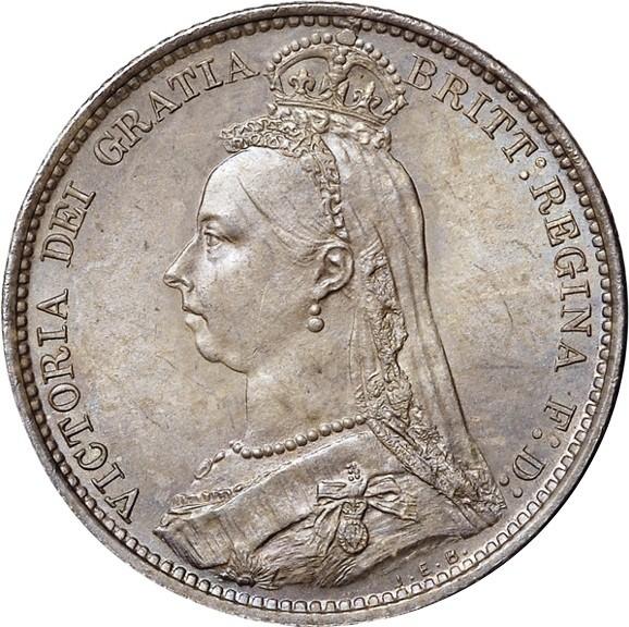 British 6 Pence (1887-1893 Victoria)