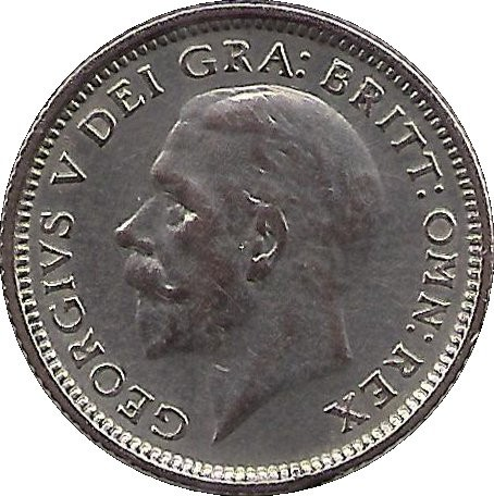 British 6 Pence (1920-1926 George V)