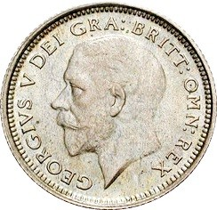 British 6 Pence (1926-1927 George V)