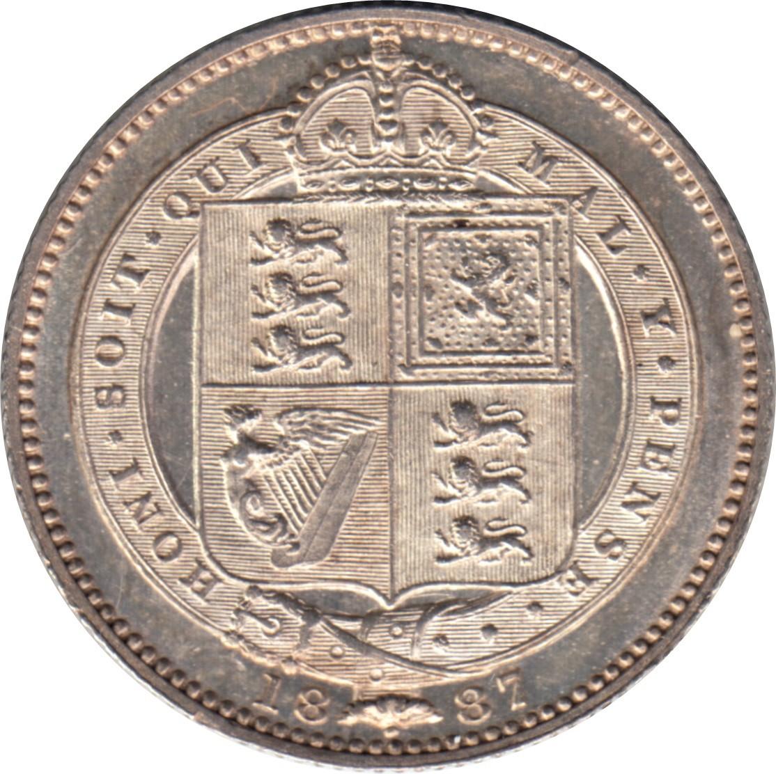 British 1 Shilling (1887-1889 Victoria)