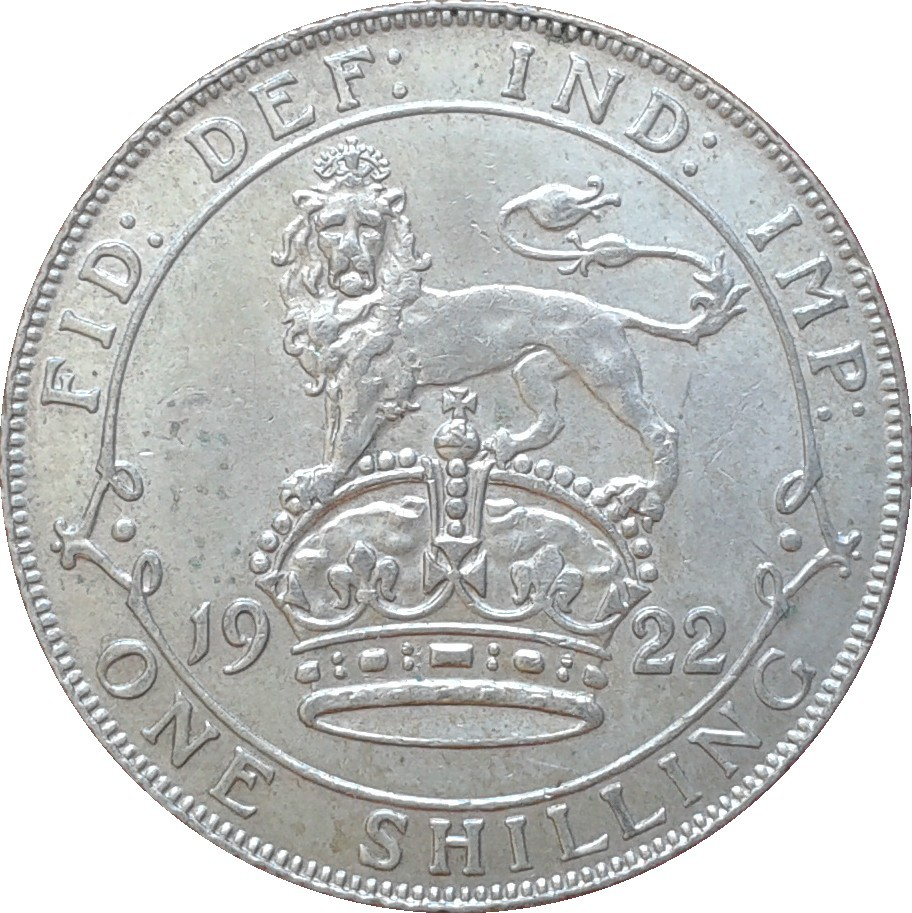 British 1 Shilling (1920-1926 George V)