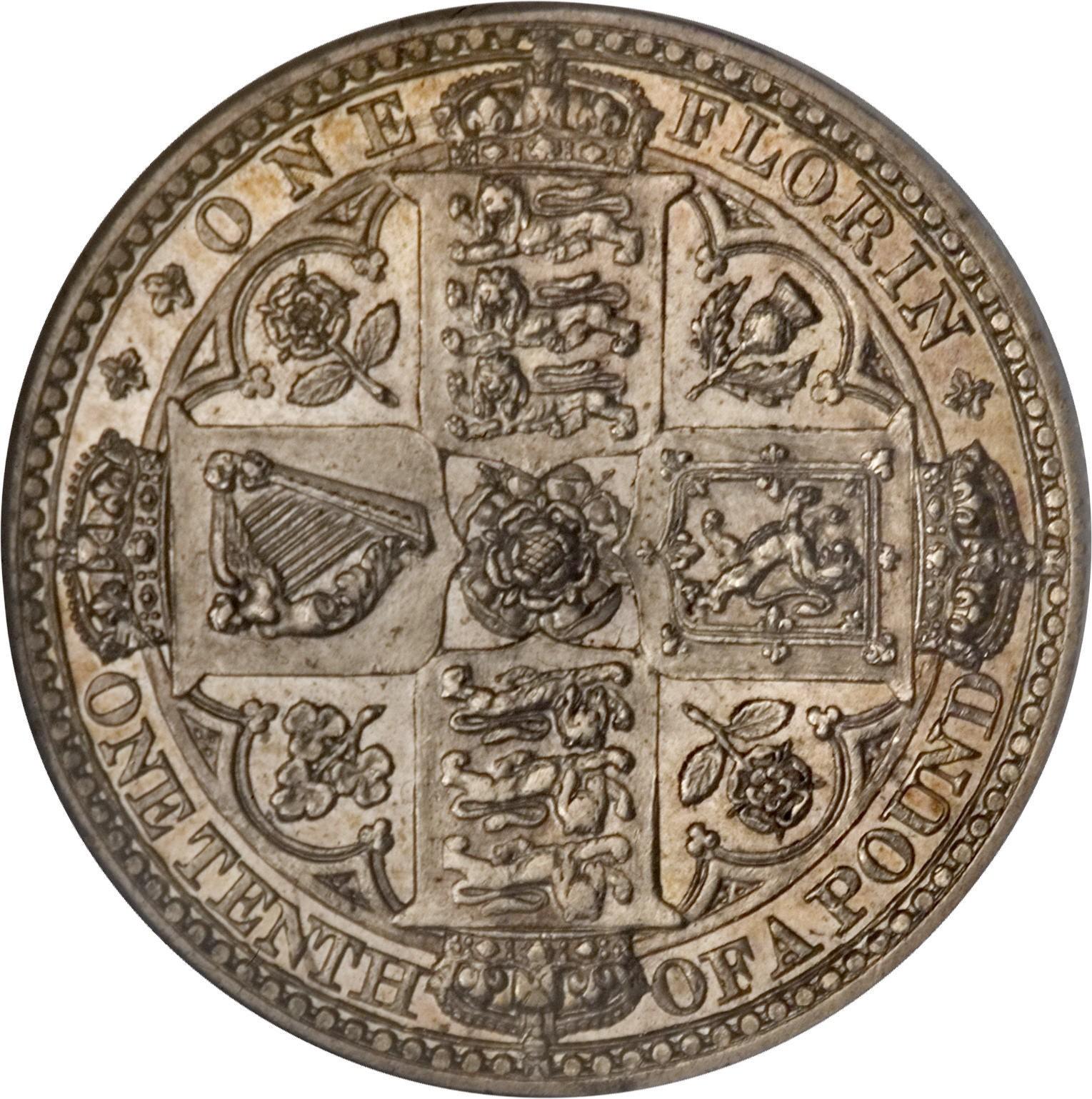 British 1 Florin (1848-1849 Victoria)