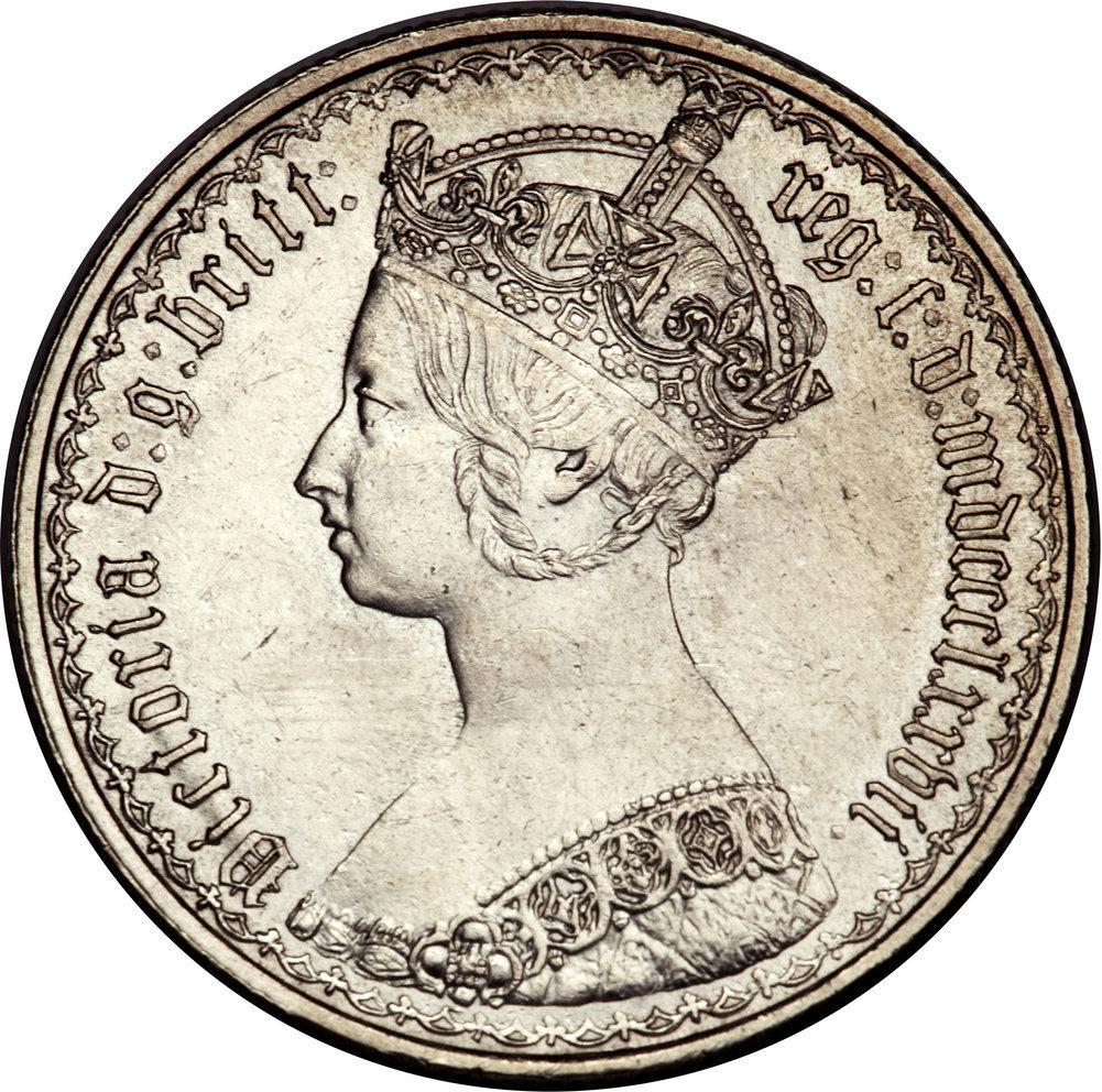 British 1 Florin (1851-1887 Victoria)