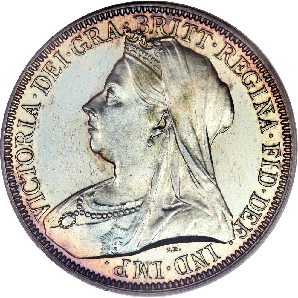 British 1 Florin (1893-1901 Victoria)