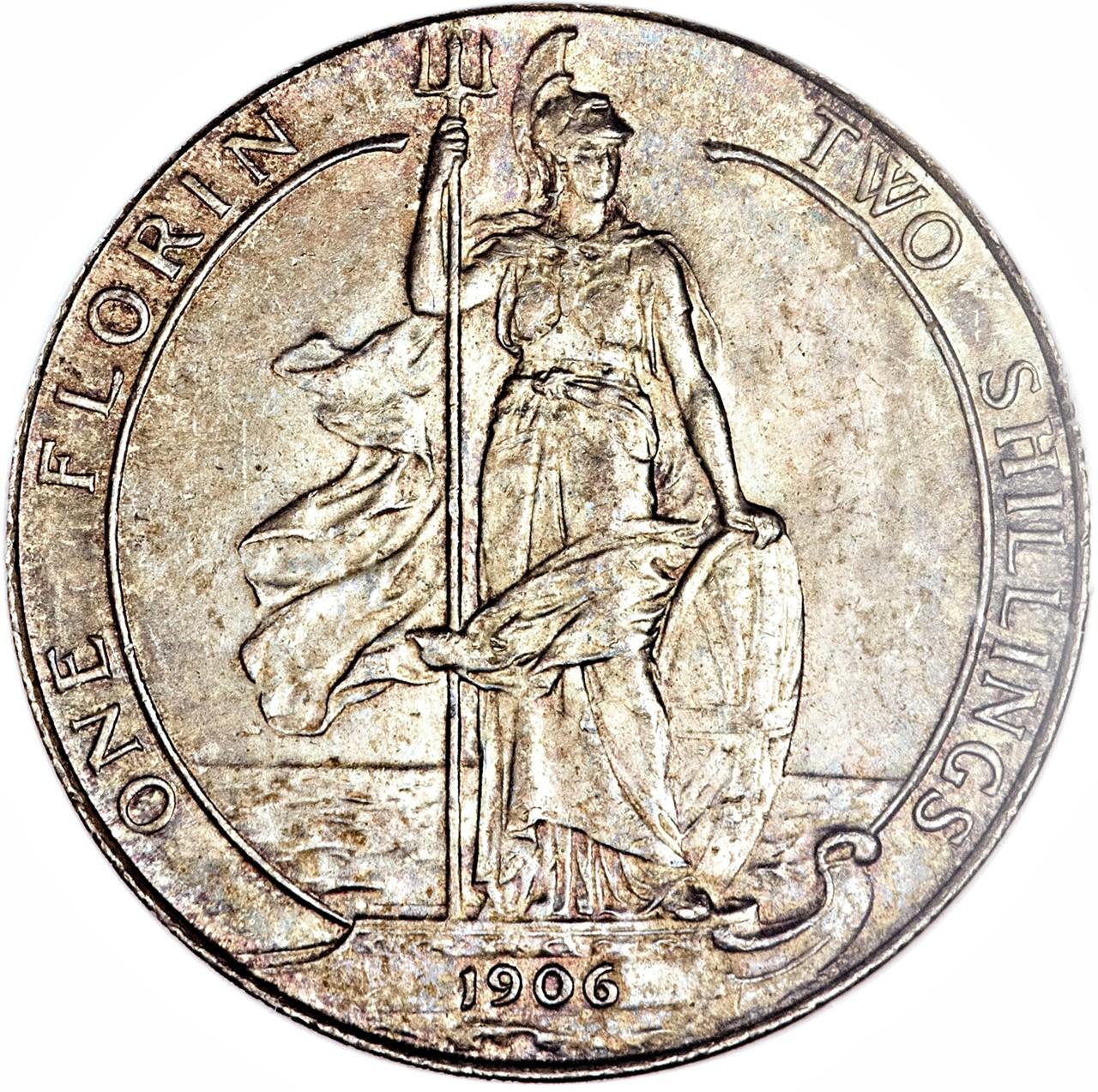 British 1 Florin (1902-1910 Edward VII)