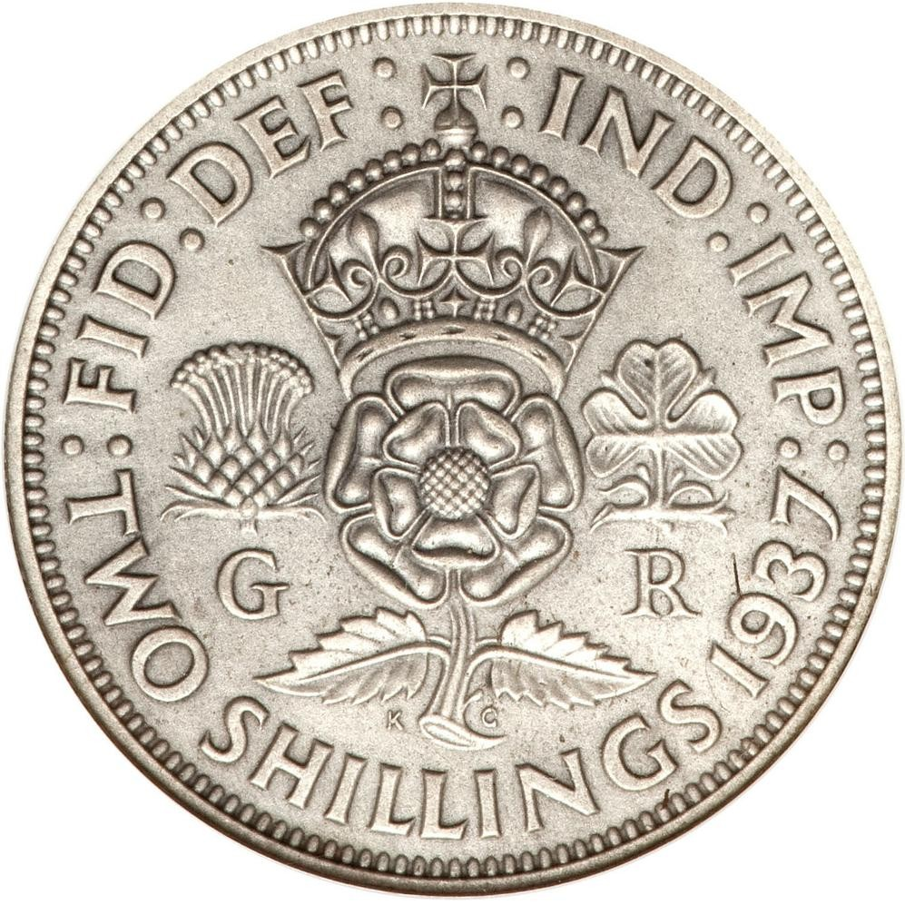 British 2 Shillings (1937-1946 George VI)