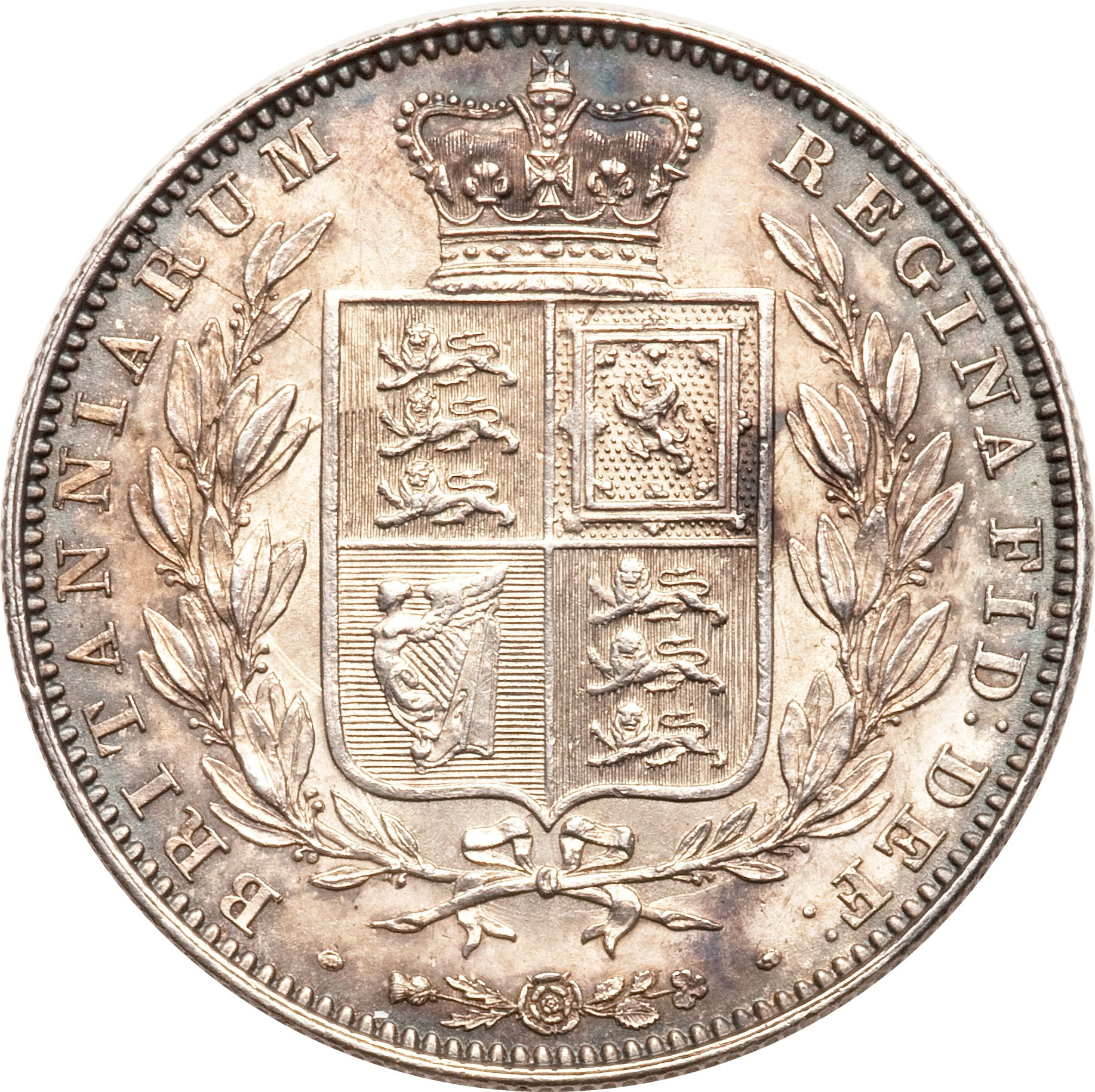 British ½ Crown (1839-1864 Victoria)