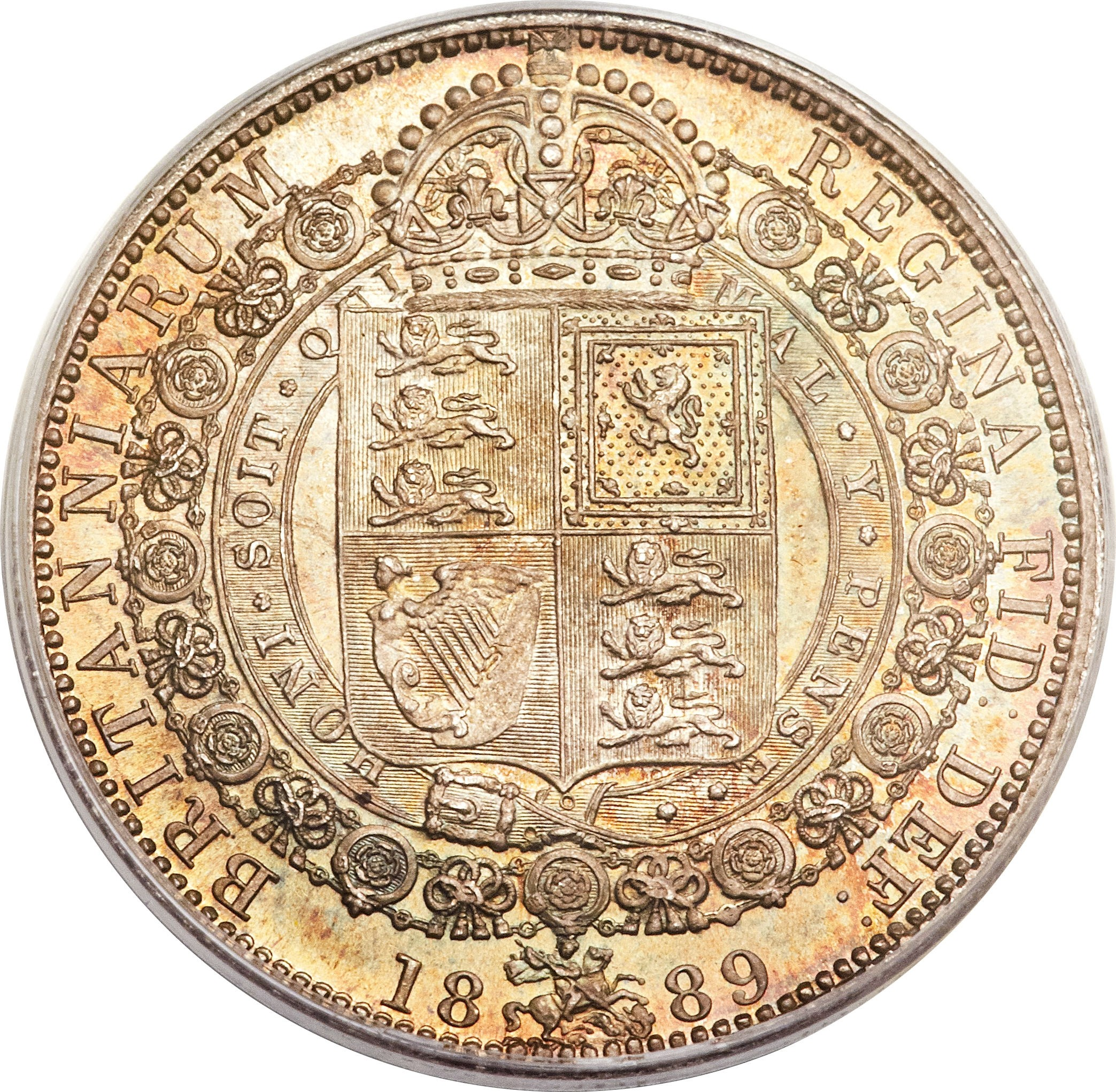 British ½ Crown (1887-1892 Victoria)