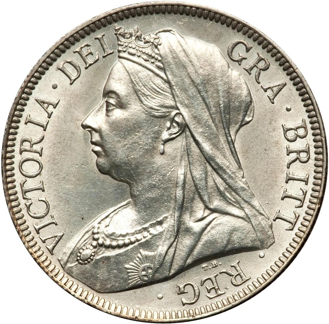 British ½ Crown (1893-1901 Victoria)