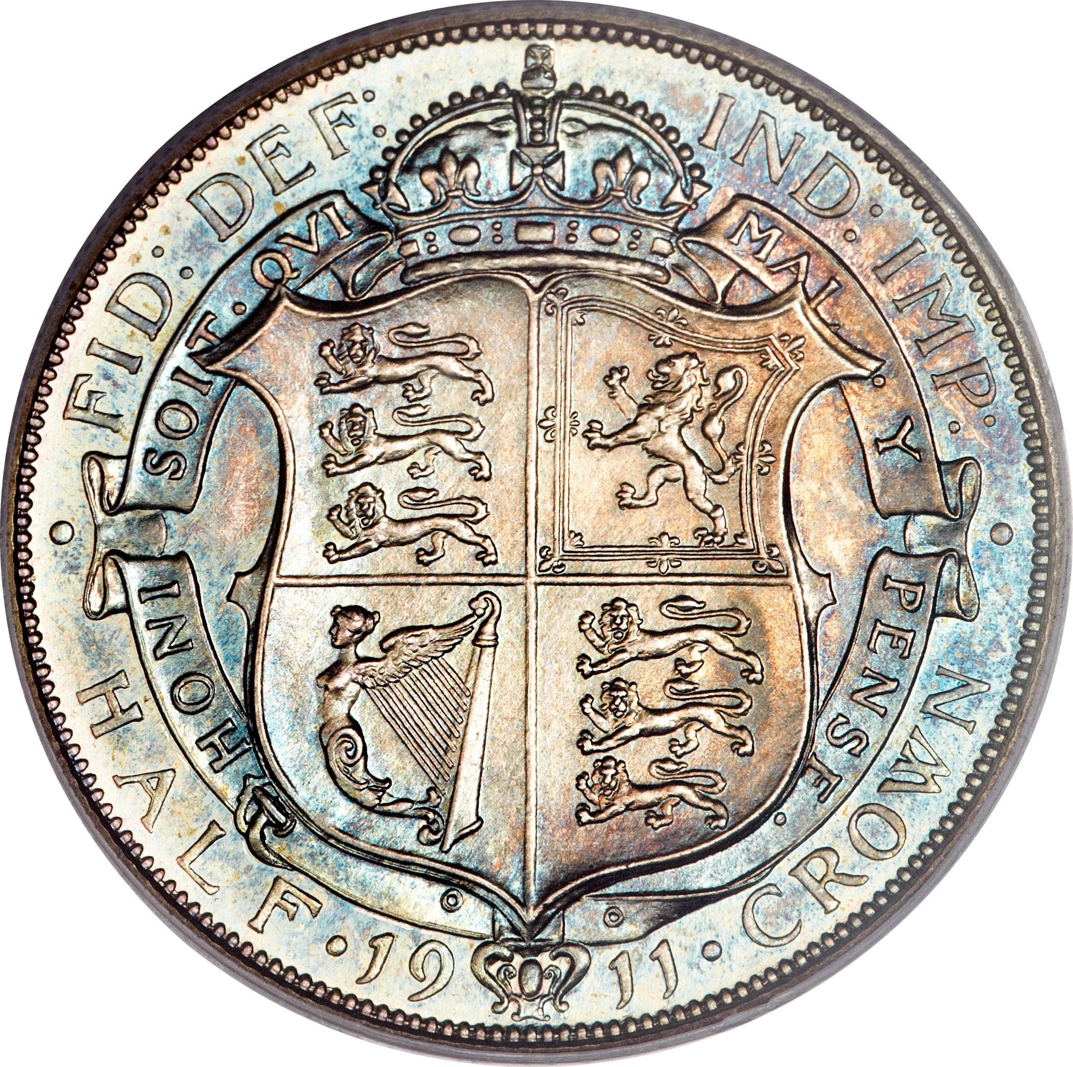 British ½ Crown (1911-1919 George V)