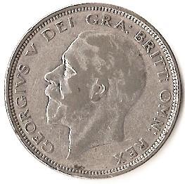 British ½ Crown (1926-1927 George V)