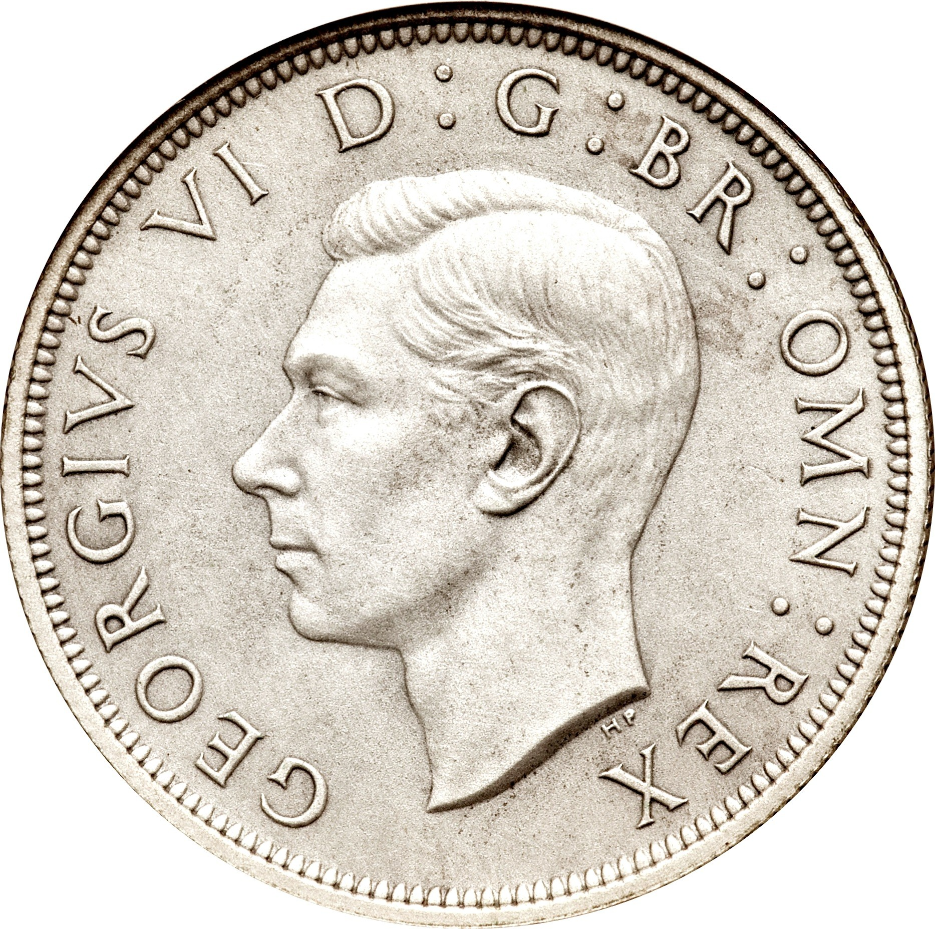 British ½ Crown (1937-1946 George VI)