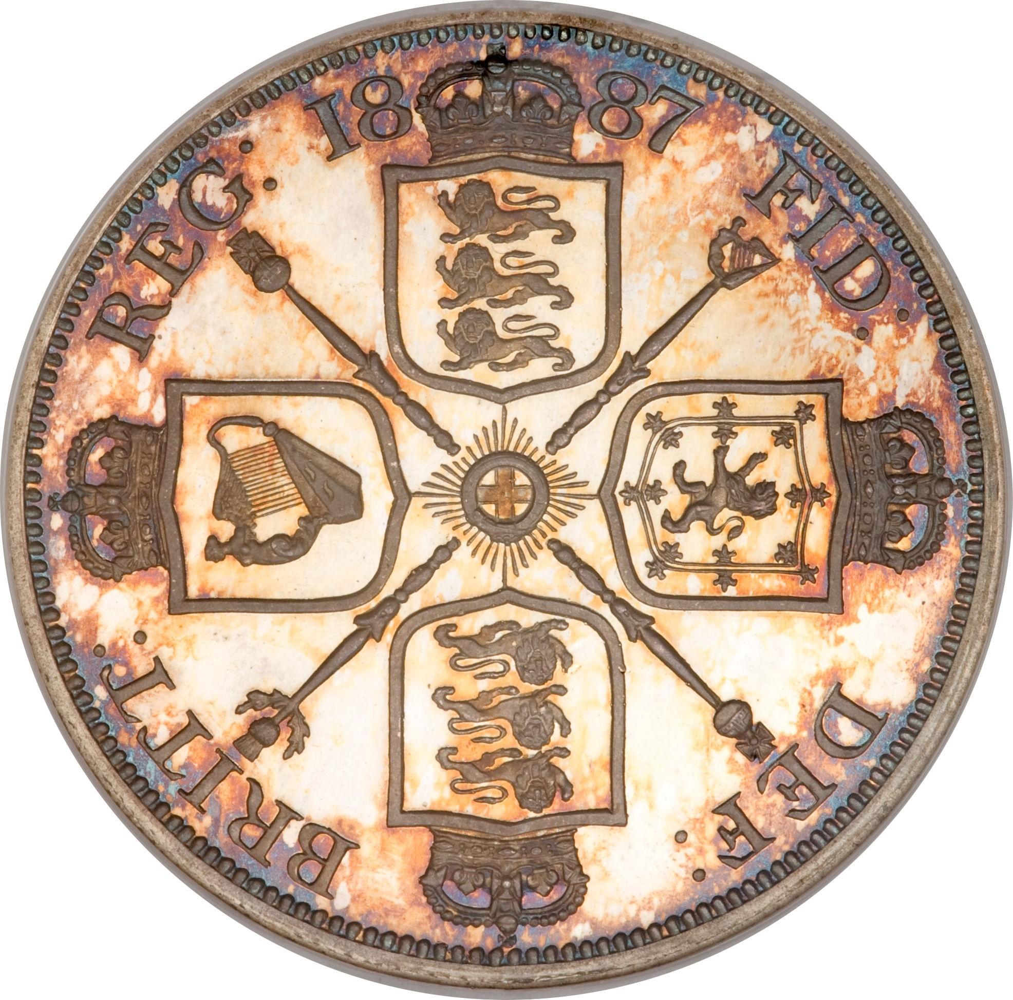 British 2 Florins (1887-1890 Victoria)
