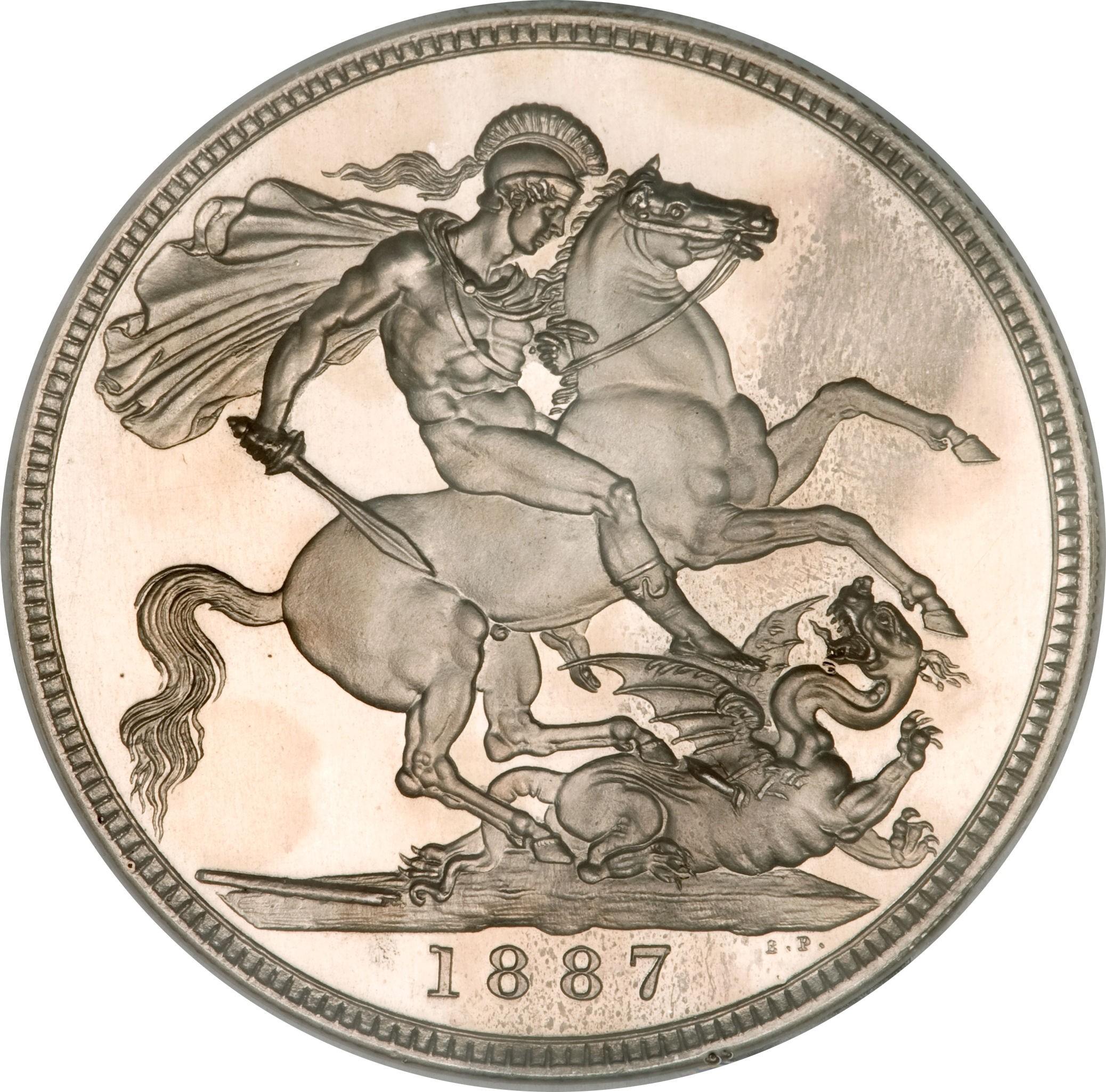 British 1 Crown (1887-1892 Victoria)