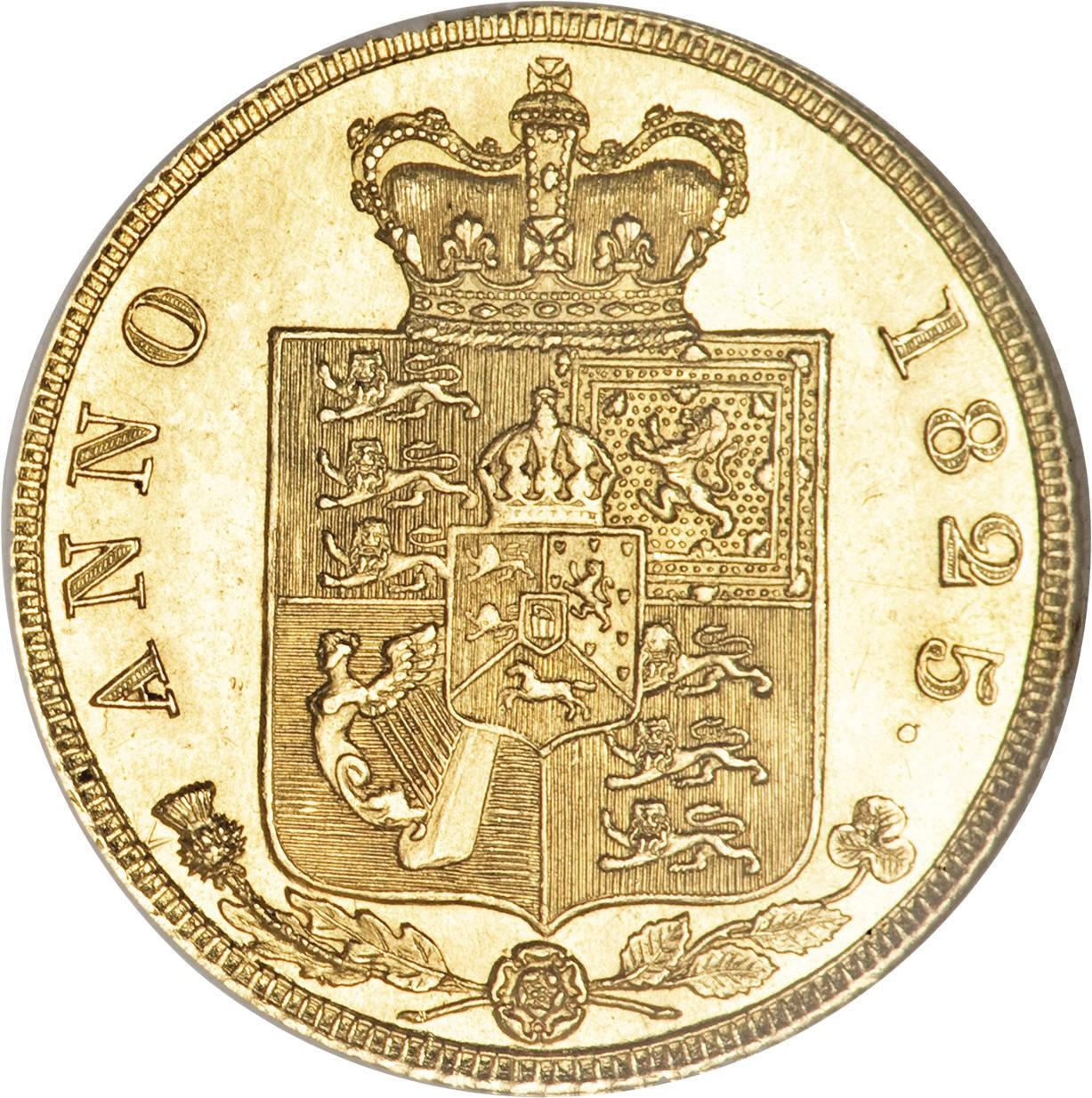 British ½ Sovereign (1823-1825 George IV)