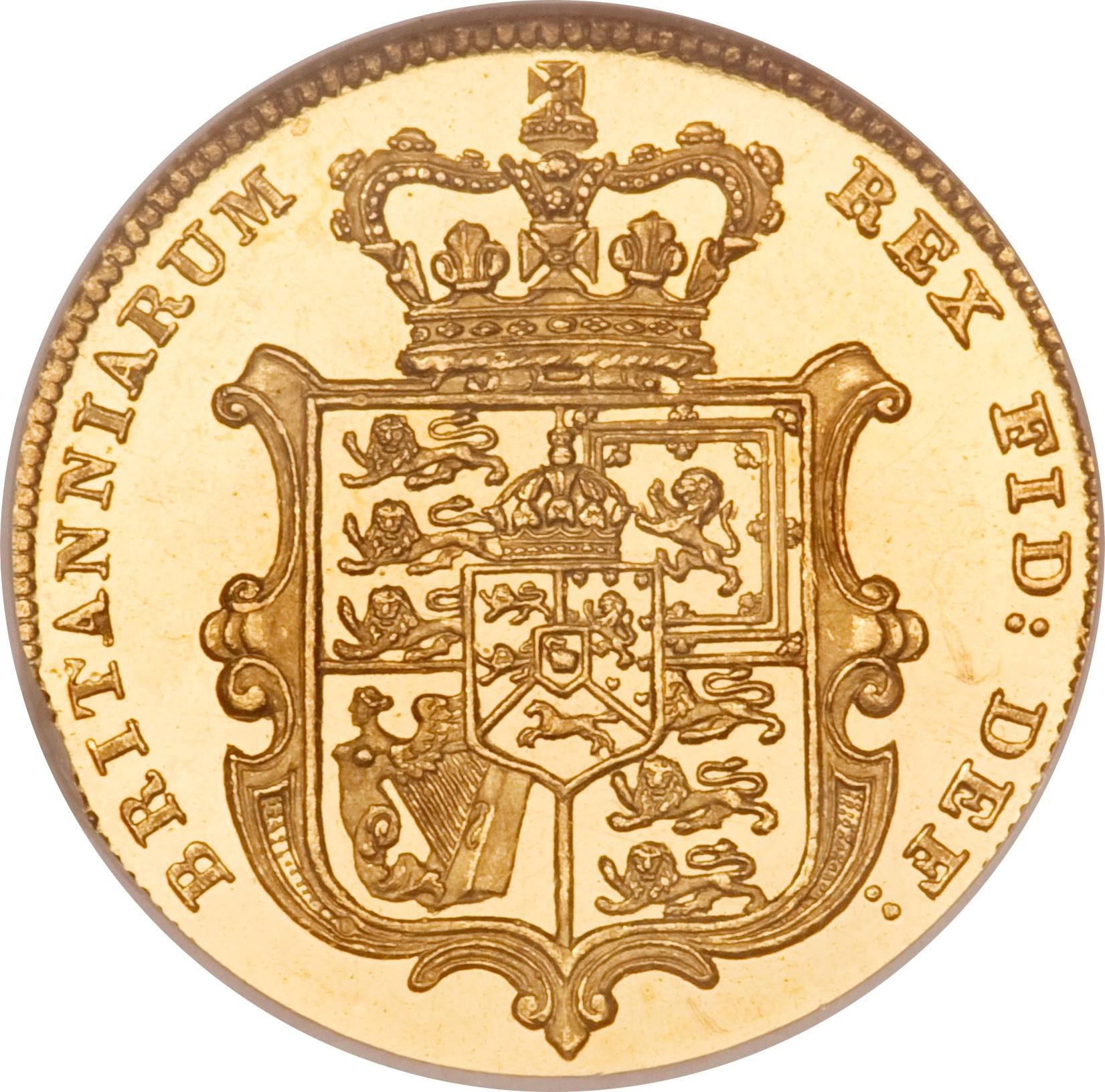 British ½ Sovereign (1826-1828 George IV)