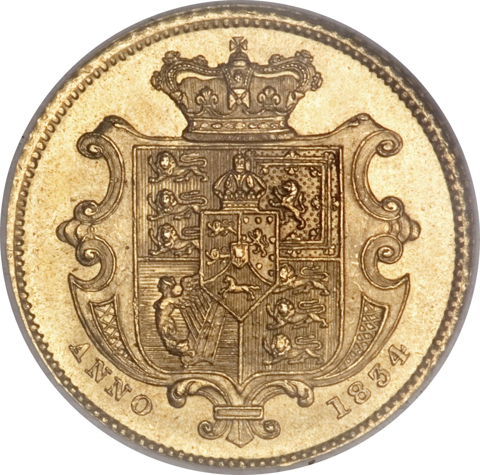 British ½ Sovereign (1831-1834 William IV )
