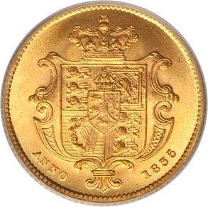 British ½ Sovereign (1835-1837 William IV)