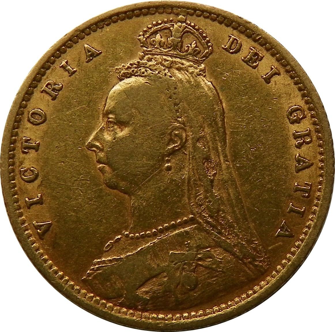 British ½ Sovereign (1887-1893 Victoria)