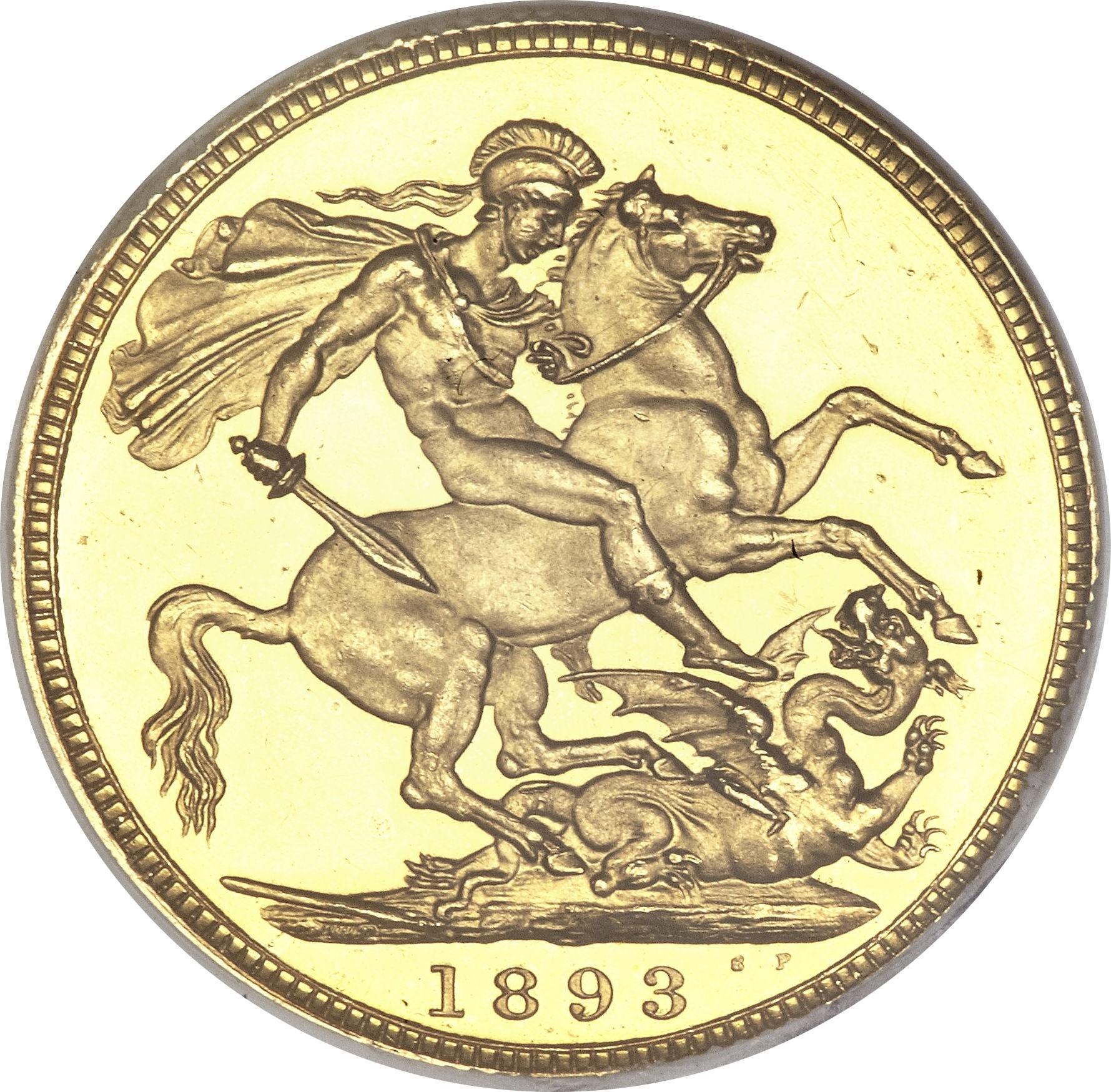 British ½ Sovereign (1893-1901 Victoria)
