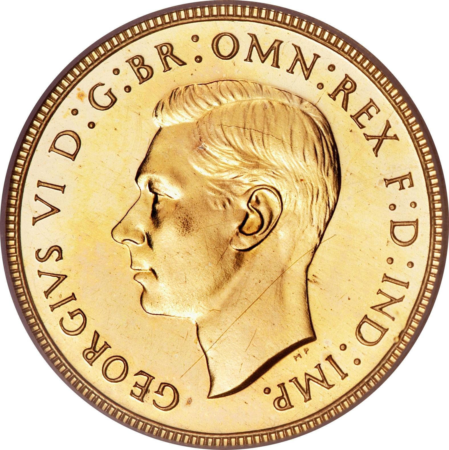 British ½ Sovereign (1937 George VI)