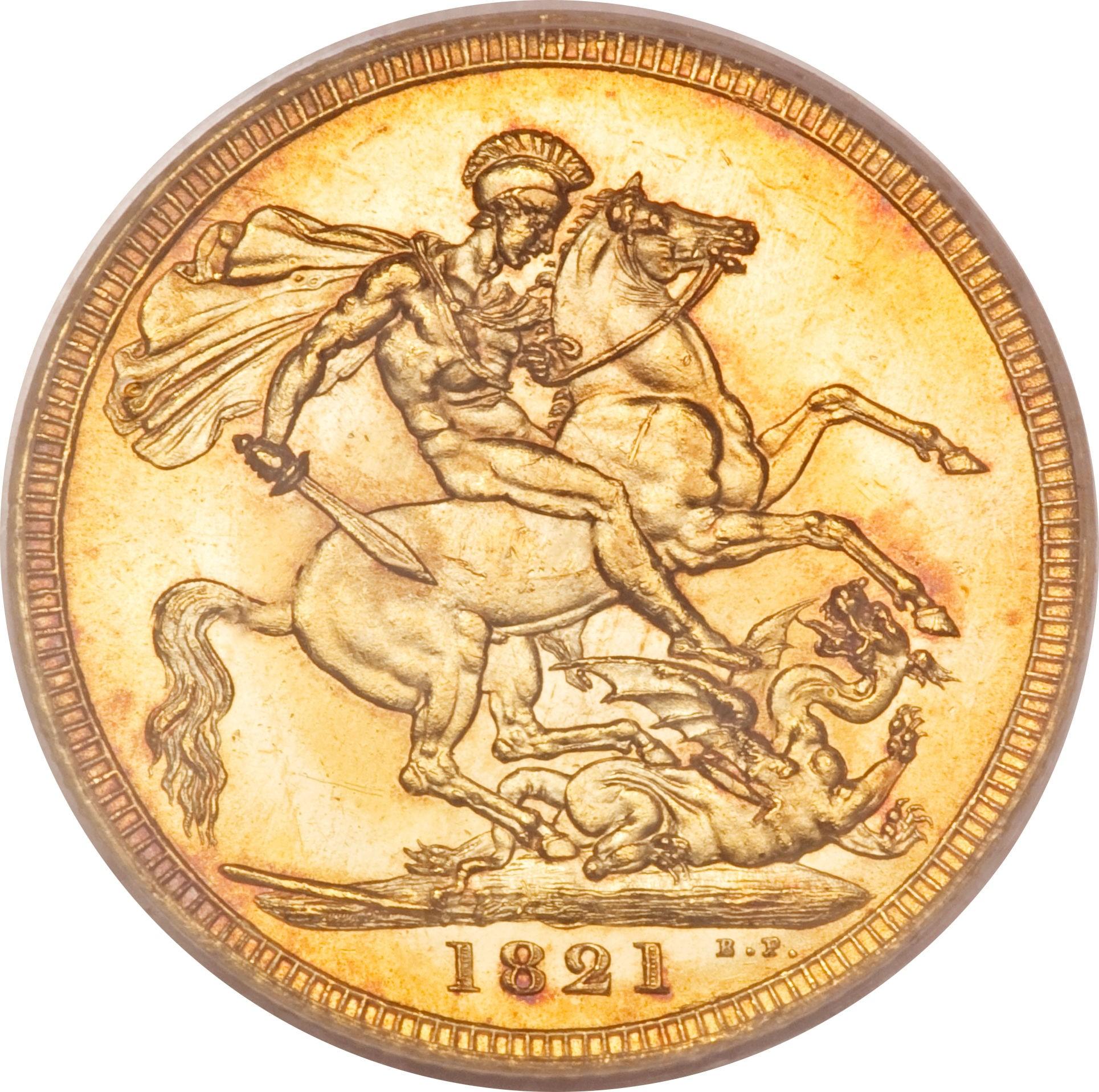 British 1 Sovereign (1821-1825George IV)