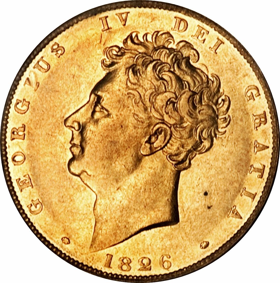 British 1 Sovereign (1825-1830 George IV)