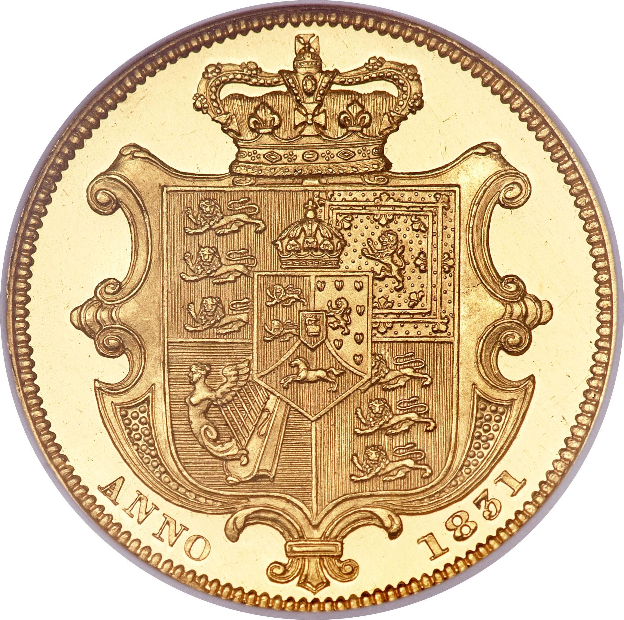 British 1 Sovereign (1831-1837 William IV)