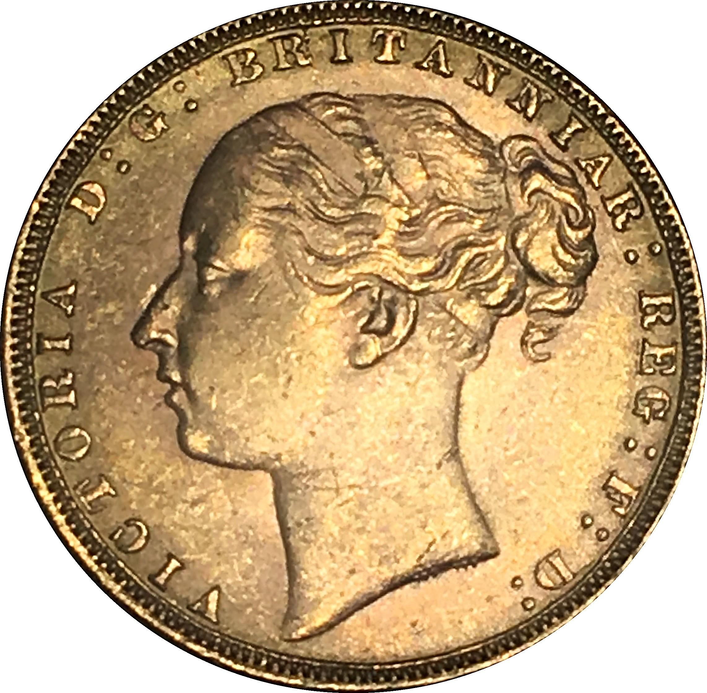 British 1 Sovereign (1871-1885 Victoria)