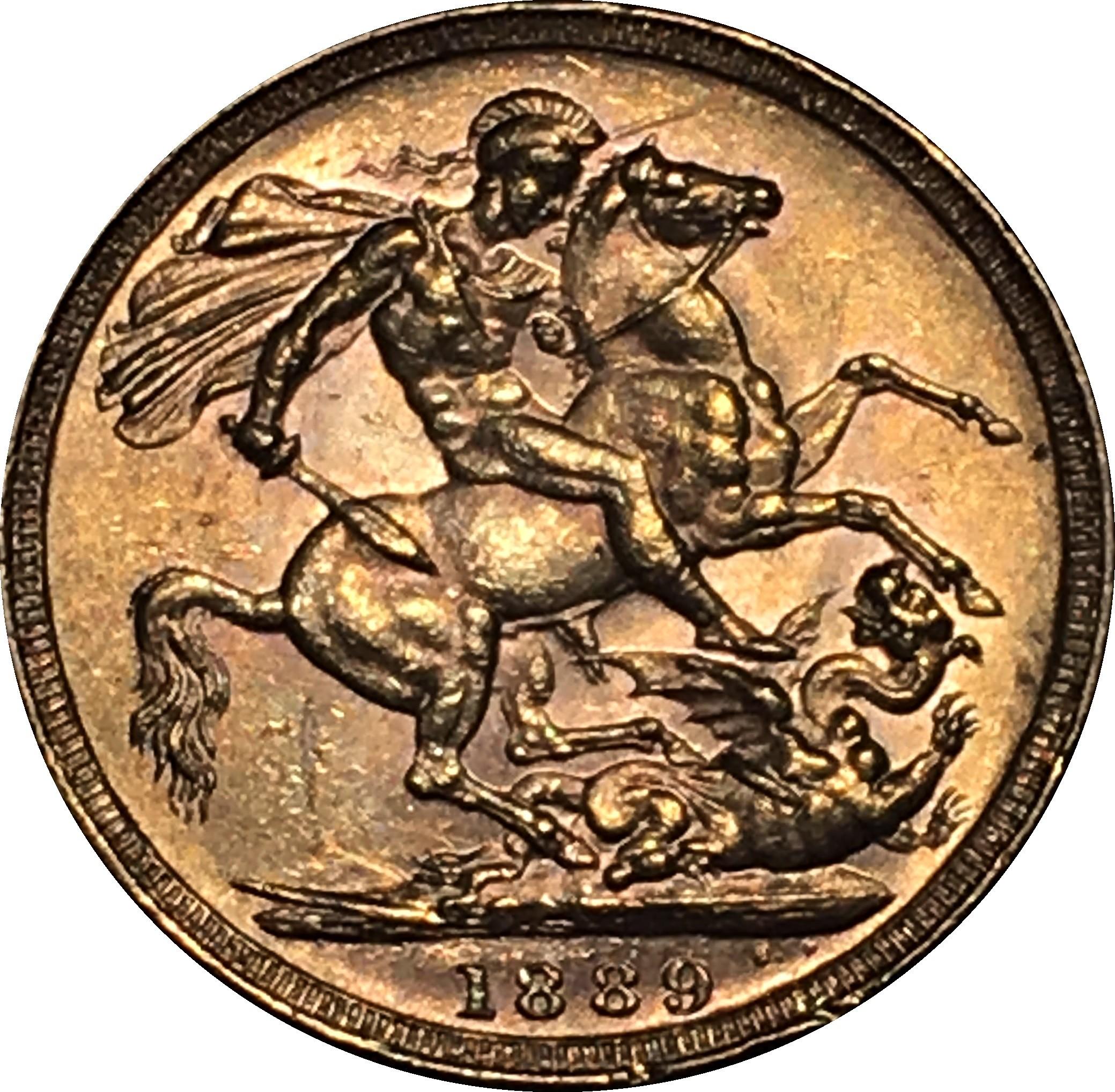 British 1 Sovereign (1887-1892 Victoria)