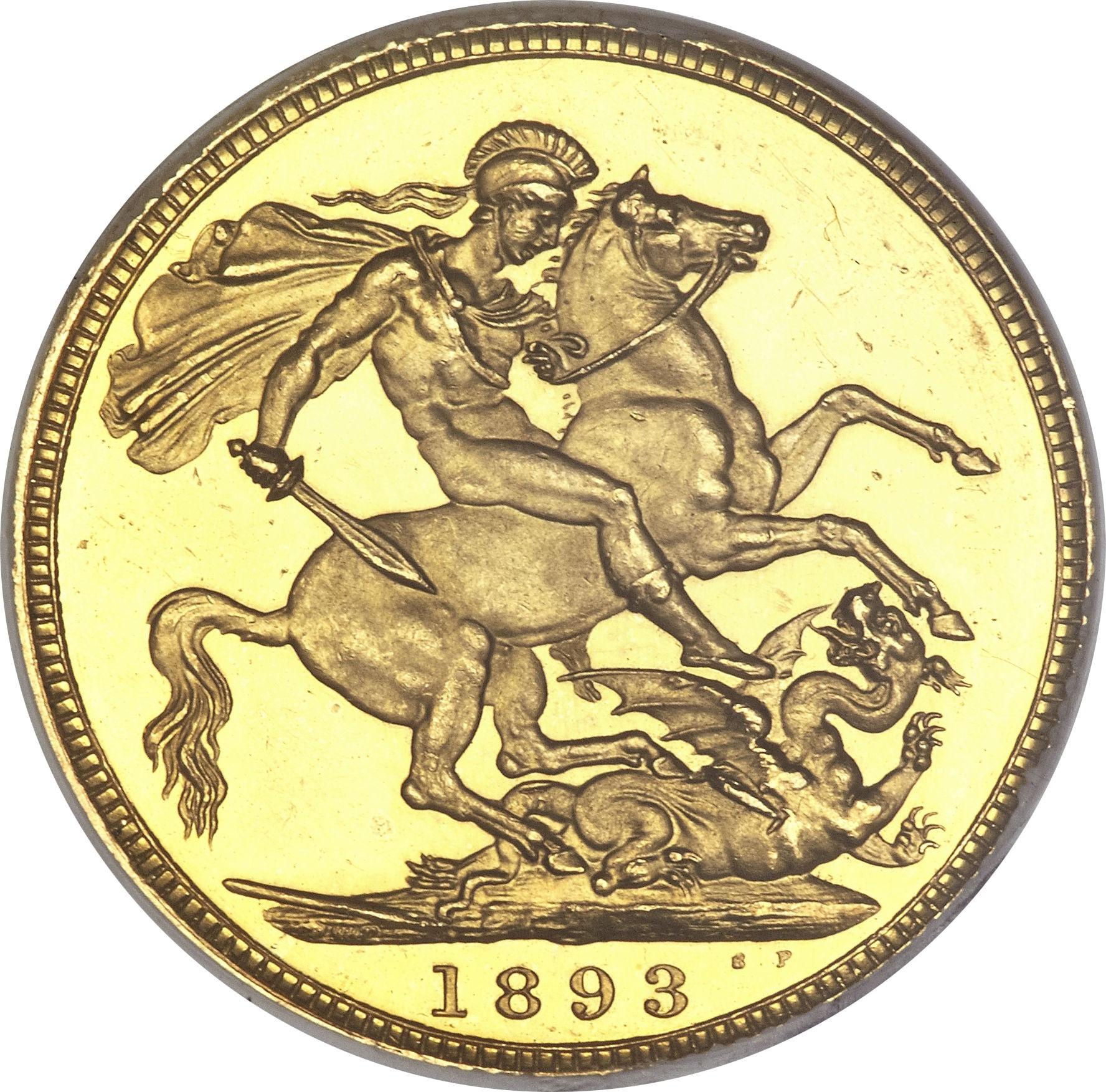 British 1 Sovereign (1893-1901 Victoria)