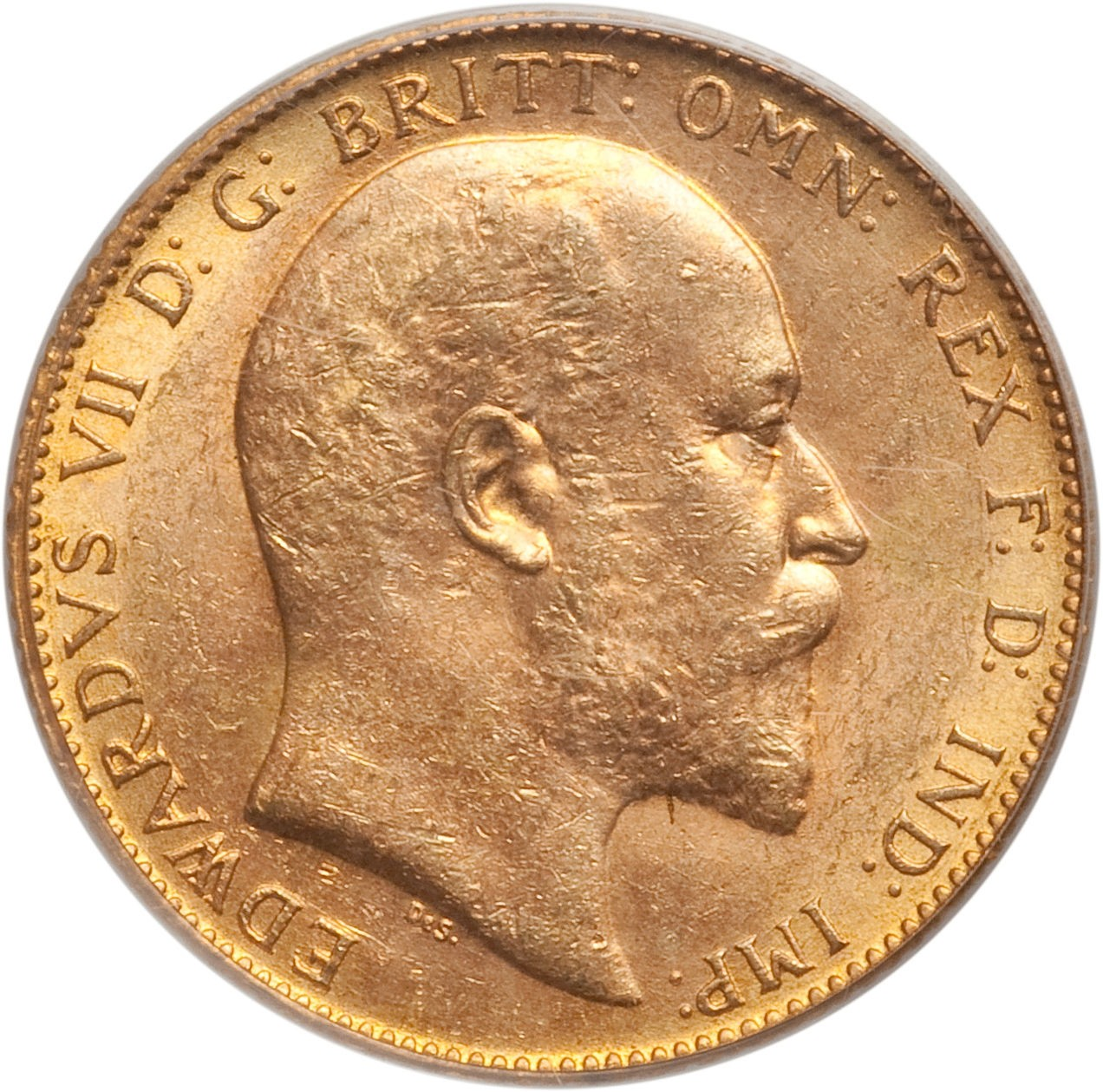 British 1 Sovereign (1908-1910 Edward VII-Ottawa Mint)