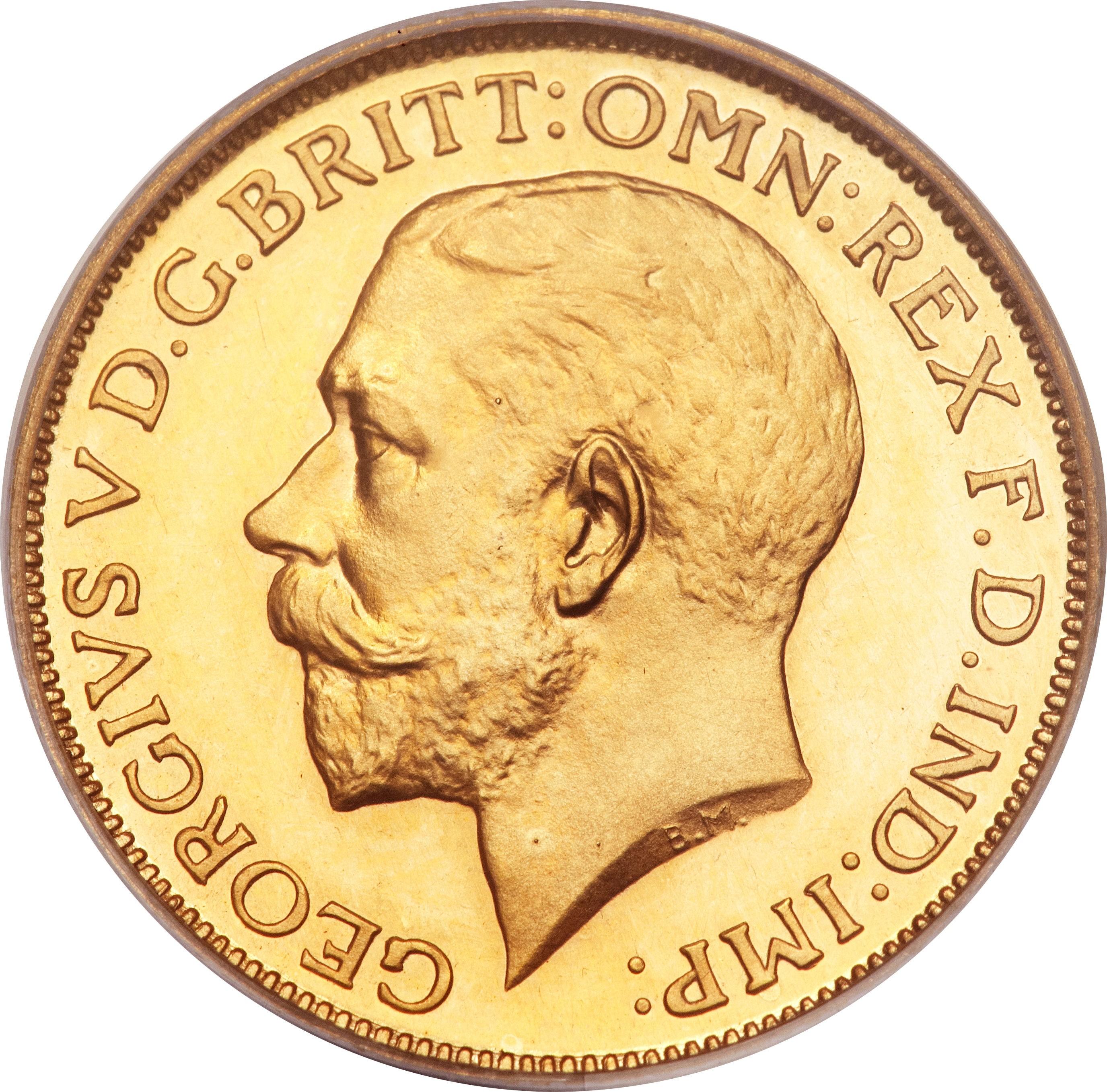 British 1 Sovereign (1911-1925 George V)