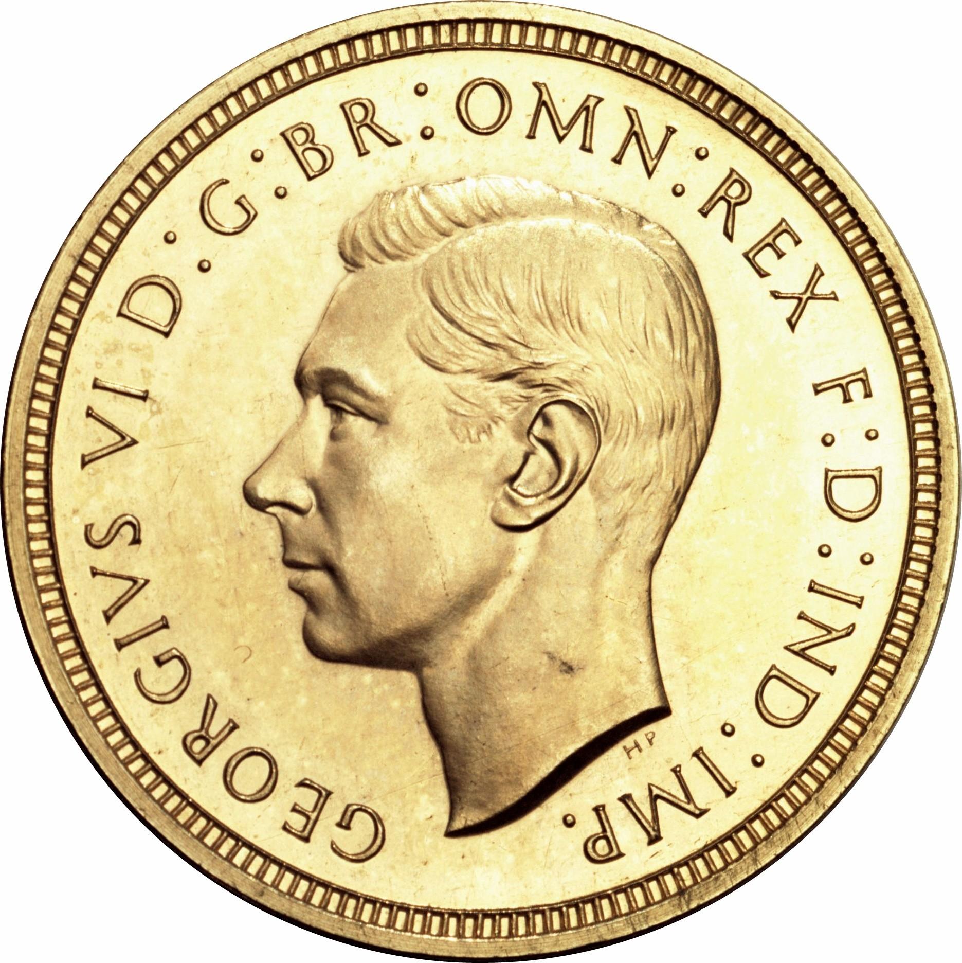 British 1 Sovereign (1937 George VI)