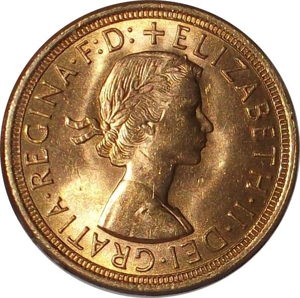 British 1 Sovereign (1957-1968 Elizabeth II)