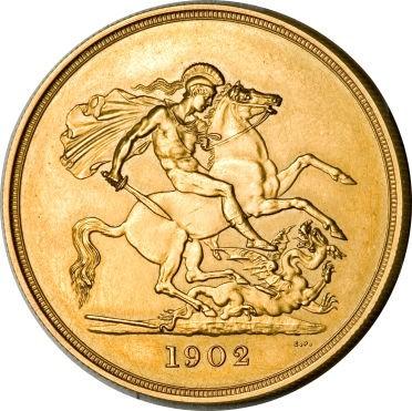 British 5 Pounds (1902 Edward VII)