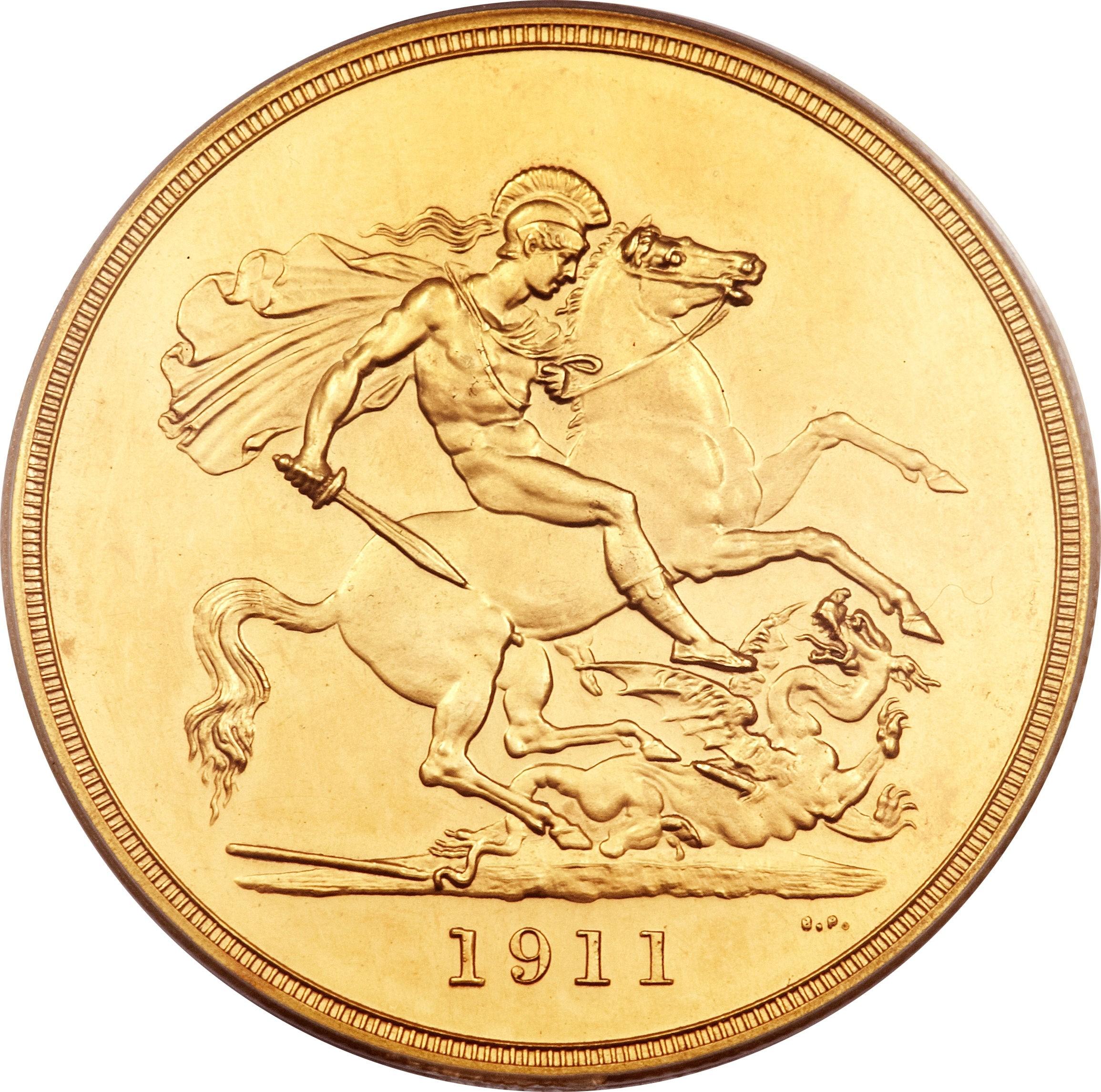 British 5 Pounds (1911 George V)