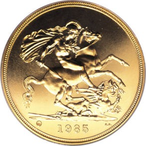 British 5 Pounds (1985-1997 Elizabeth II)
