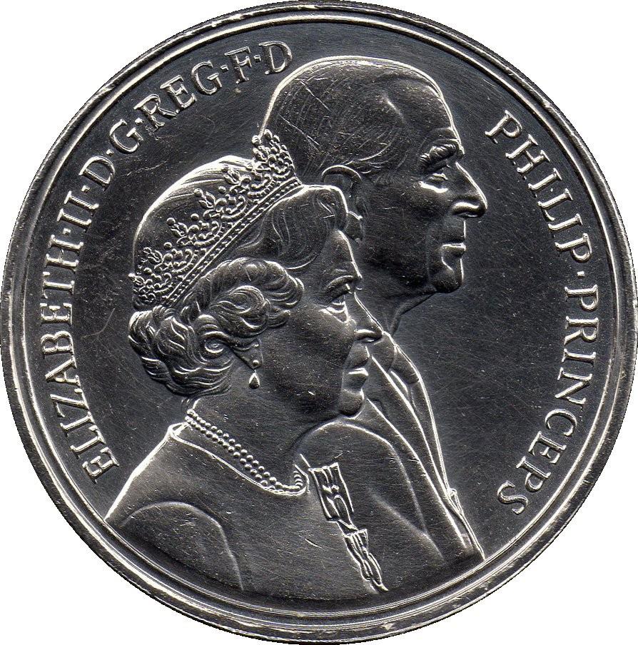 British 5 Pounds (1997 Elizabeth II-Golden Wedding)
