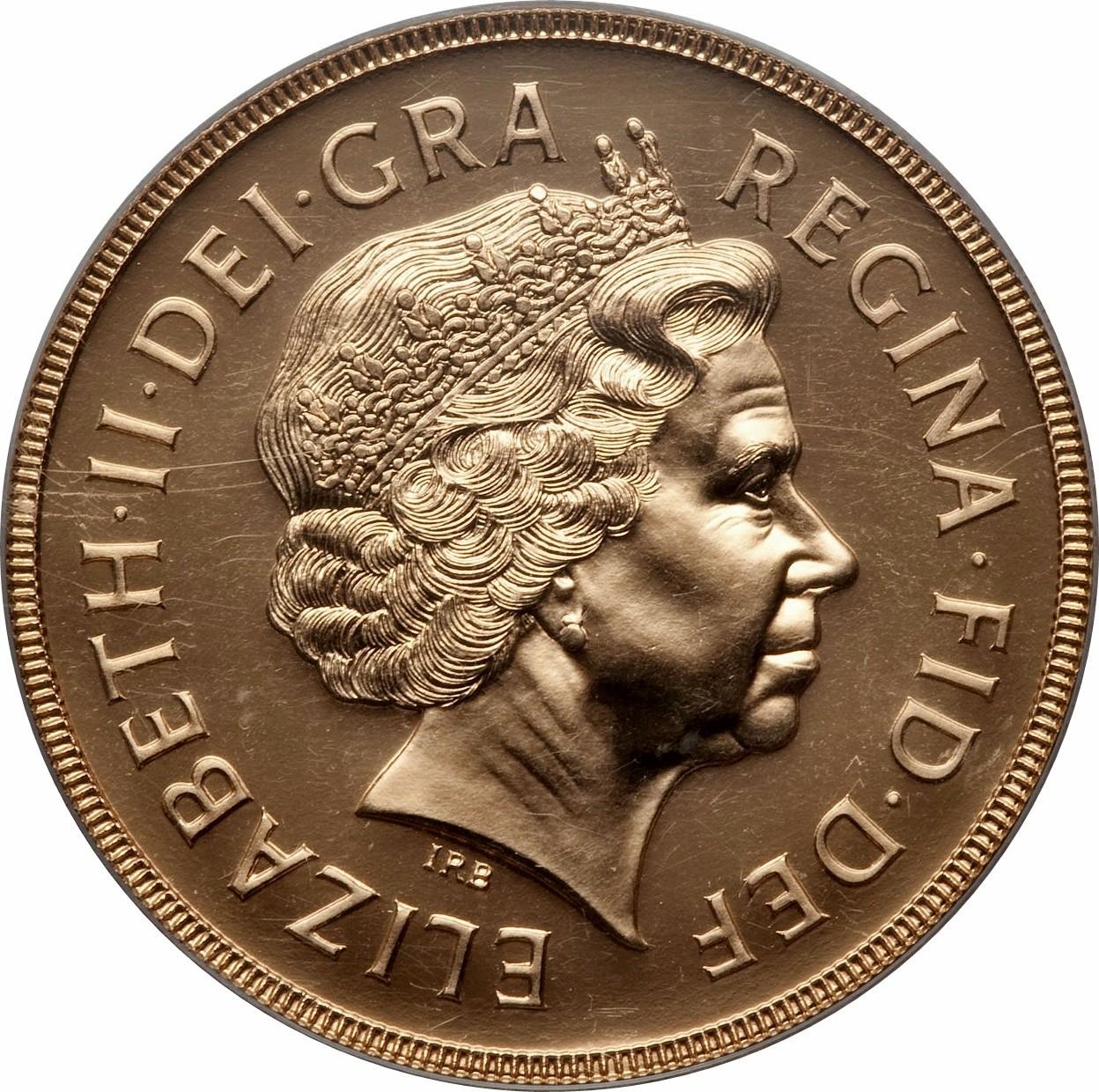 British 5 Pounds (1998-2015 Elizabeth II-Sovereign Series)