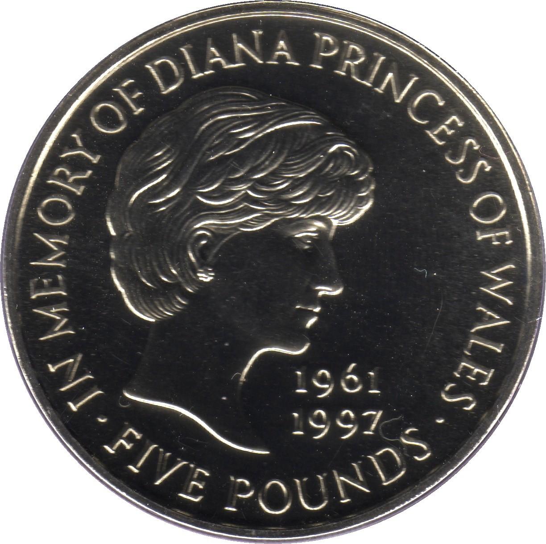 British 5 Pounds (1999 Elizabeth II-Diana, Princess of Wales)