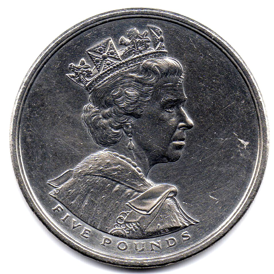 British 5 Pounds (2002 Elizabeth II-Golden Jubilee)