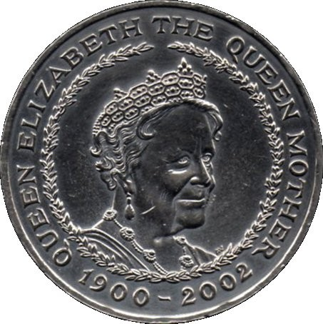 British 5 Pounds (2002 Elizabeth II-Queen Mother)