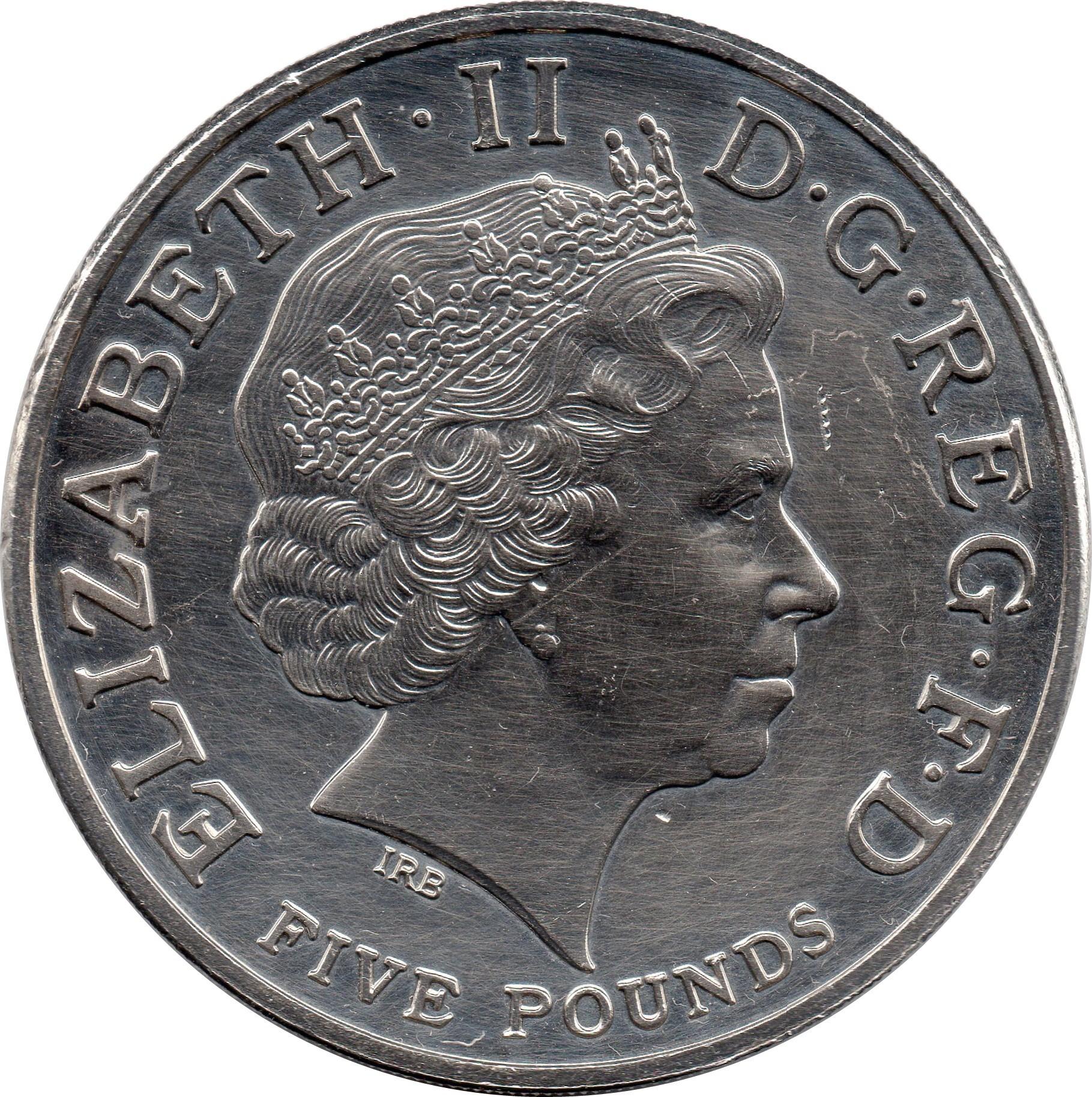 British 5 Pounds (2004 Elizabeth II-Entente Cordiale)